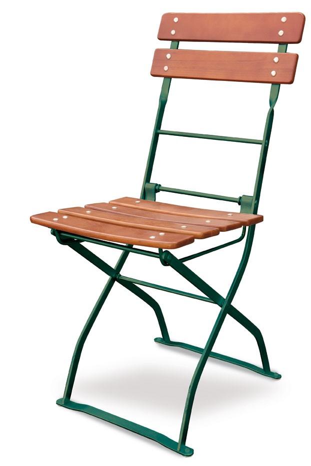Gartenstühle klappbar  Gartenstuhl / Biergartenstuhl klappbar Classic ocker/grün - bei ...