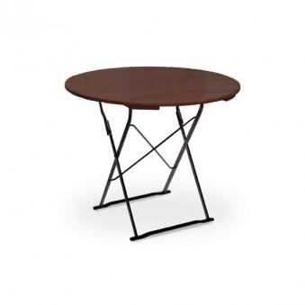 Gartentisch / Biergartentisch klapp Classic rund Ø100cm kastanie/schw. Bild 1