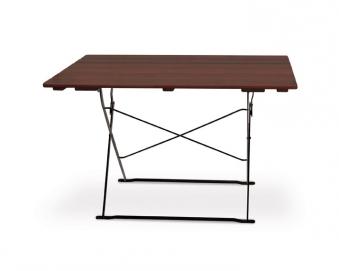 Gartentisch / Biergartentisch klappbar Classic 120x70cm kastanie/schw. Bild 1