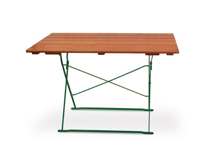 Gartentisch / Biergartentisch klappbar Classic 120x70cm ocker/grün Bild 1