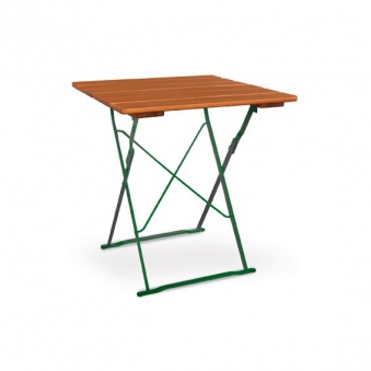 Gartentisch / Biergartentisch klappbar Classic 70 x 70 cm ocker/grün Bild 1