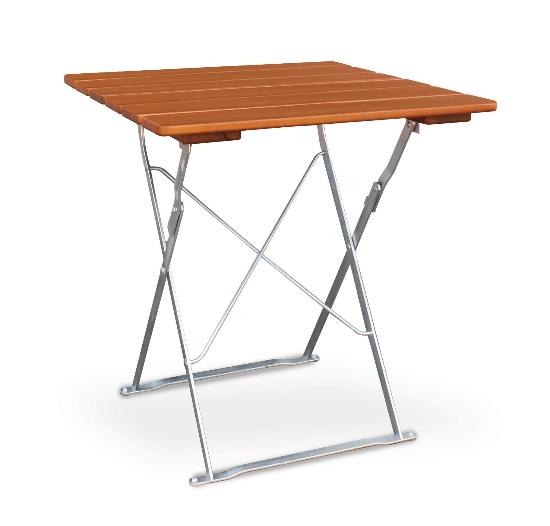 Gartentisch / Biergartentisch klappbar Classic 70 x70cm ocker/verzinkt Bild 1