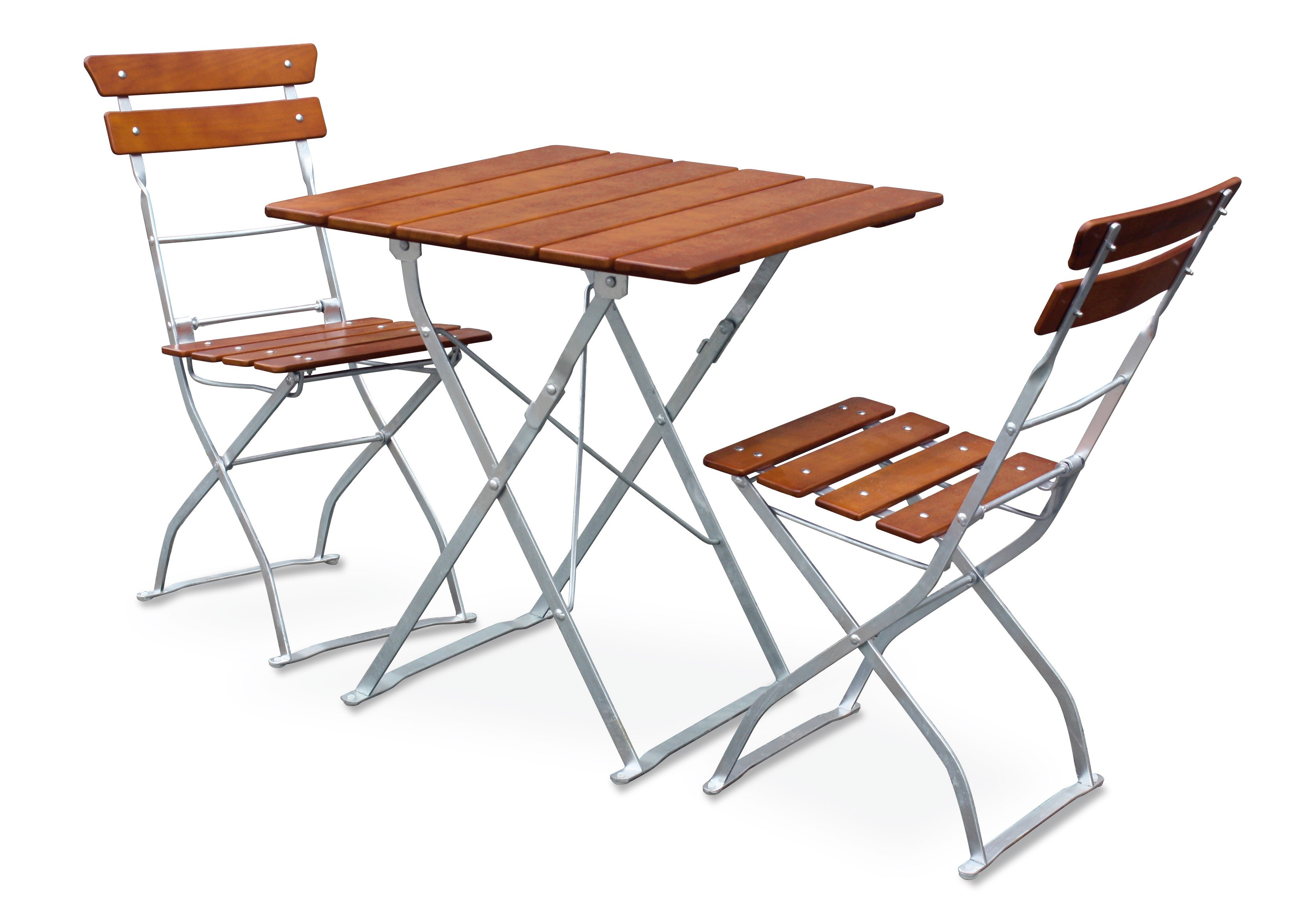 Gartentisch / Biergartentisch klappbar Classic 70 x70cm ocker/verzinkt Bild 2