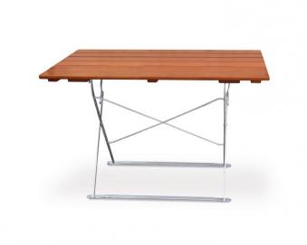 Gartentisch / Biergartentisch klappbar Classic 70x120cm ocker/verzinkt Bild 1