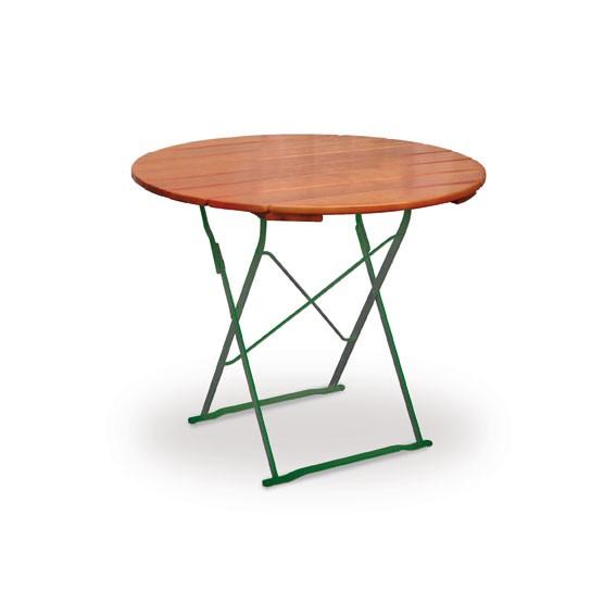 gartentisch biergartentisch klappbar classic rund 100cm. Black Bedroom Furniture Sets. Home Design Ideas