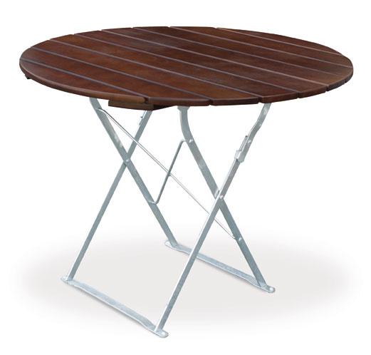gartentisch biergartentisch rund exclusiv 100 cm. Black Bedroom Furniture Sets. Home Design Ideas