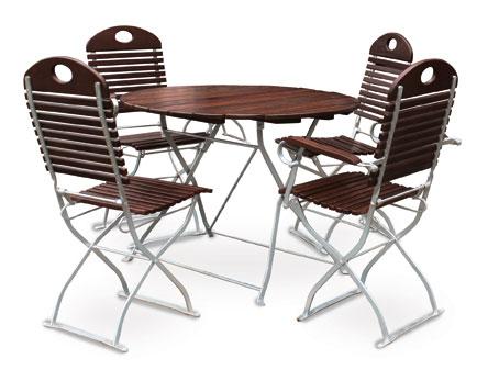 gartentisch biergartentisch rund exclusiv 100 cm kastanie verzinkt bei. Black Bedroom Furniture Sets. Home Design Ideas