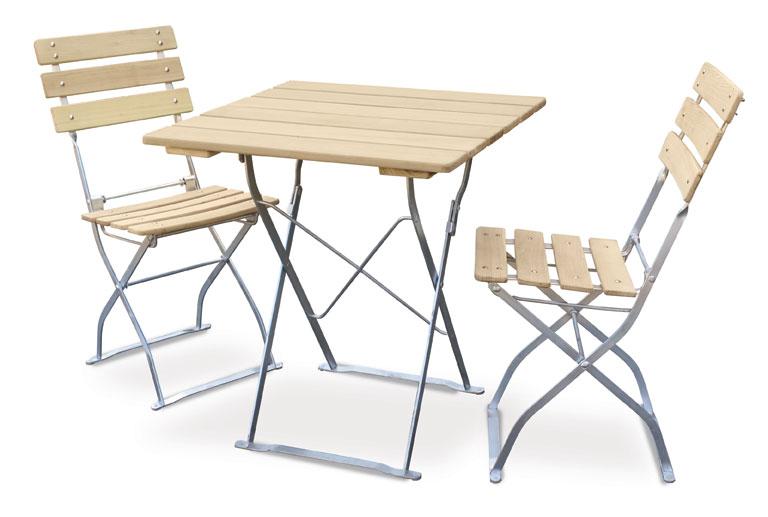 gartenstuhl biergartenstuhl klappbar natur natur verzinkt bei. Black Bedroom Furniture Sets. Home Design Ideas