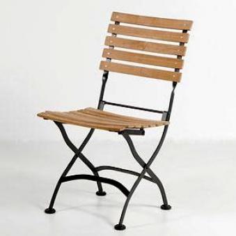 gartenstuhl biergartenstuhl klappbar peru teakholz stahl. Black Bedroom Furniture Sets. Home Design Ideas