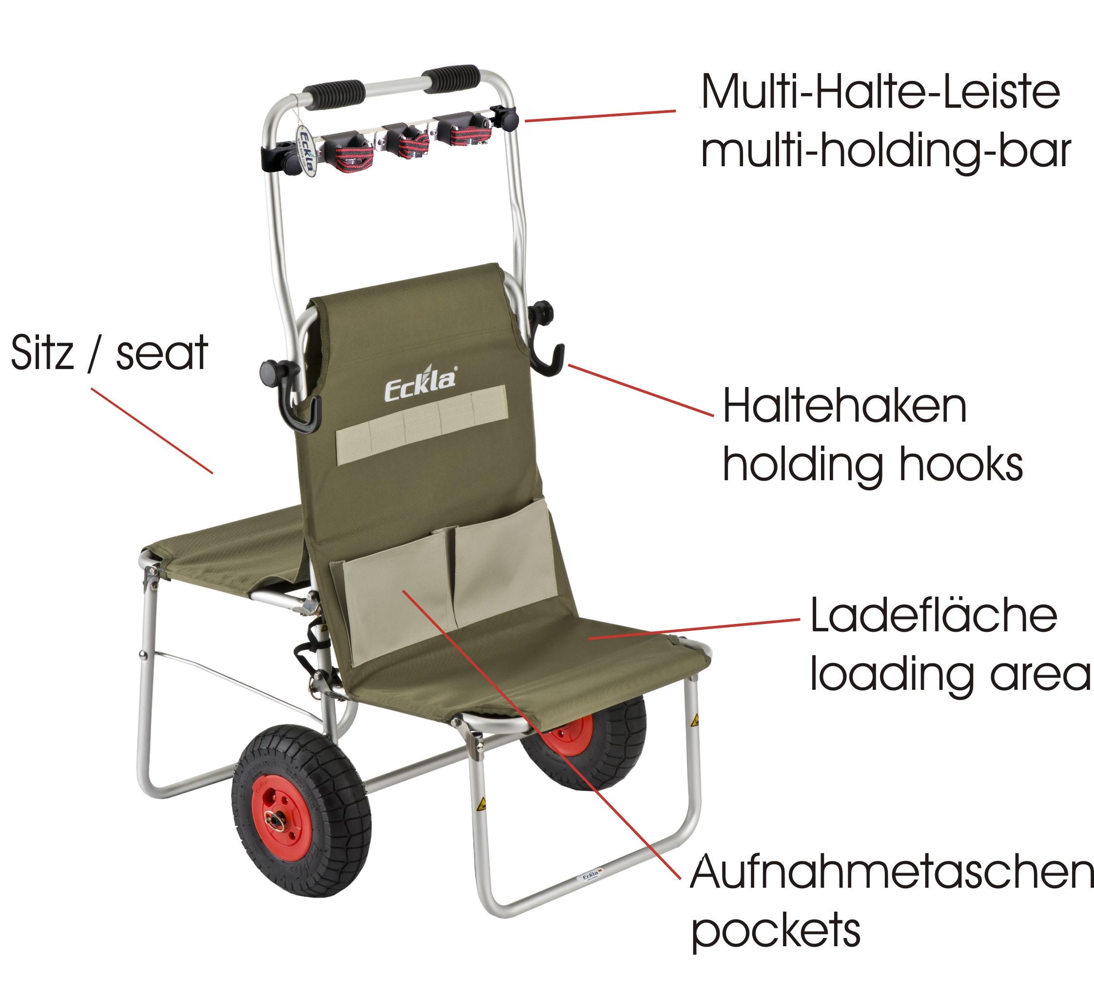 Eckla Multi Rolly Transportwagen mit Multileiste klappbar luftbereift Bild 6