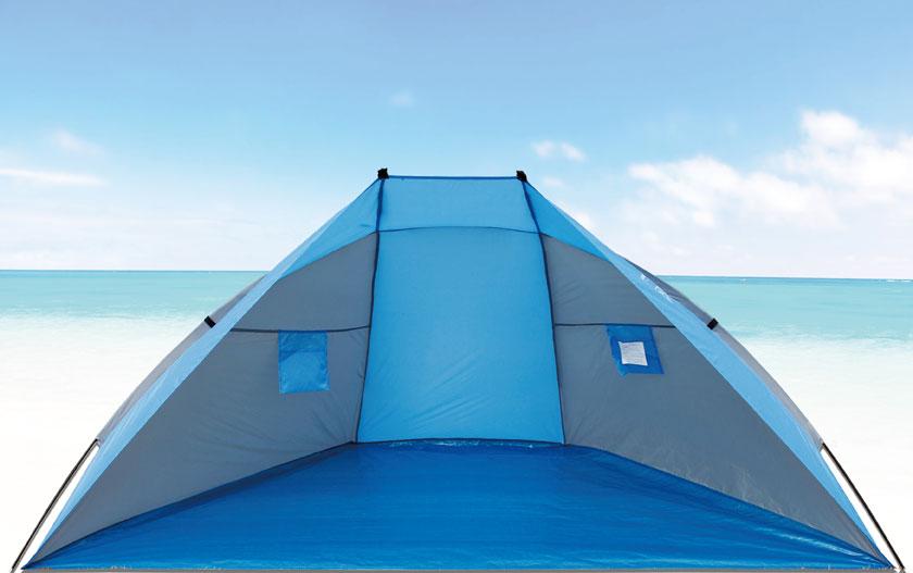 Strandmuschel / Sonnenschutz Explorer 270x120x120cm blau Bild 1