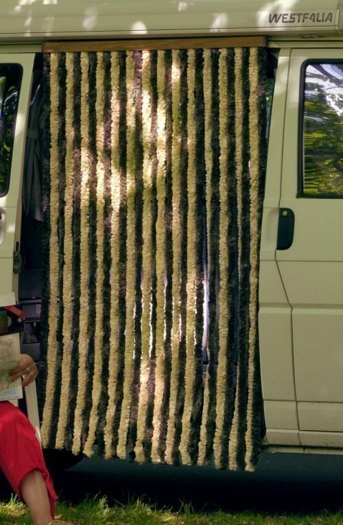 Türvorhang / Flauschvorhang Conacord Flauschi braun-beige Länge 180cm Bild 2