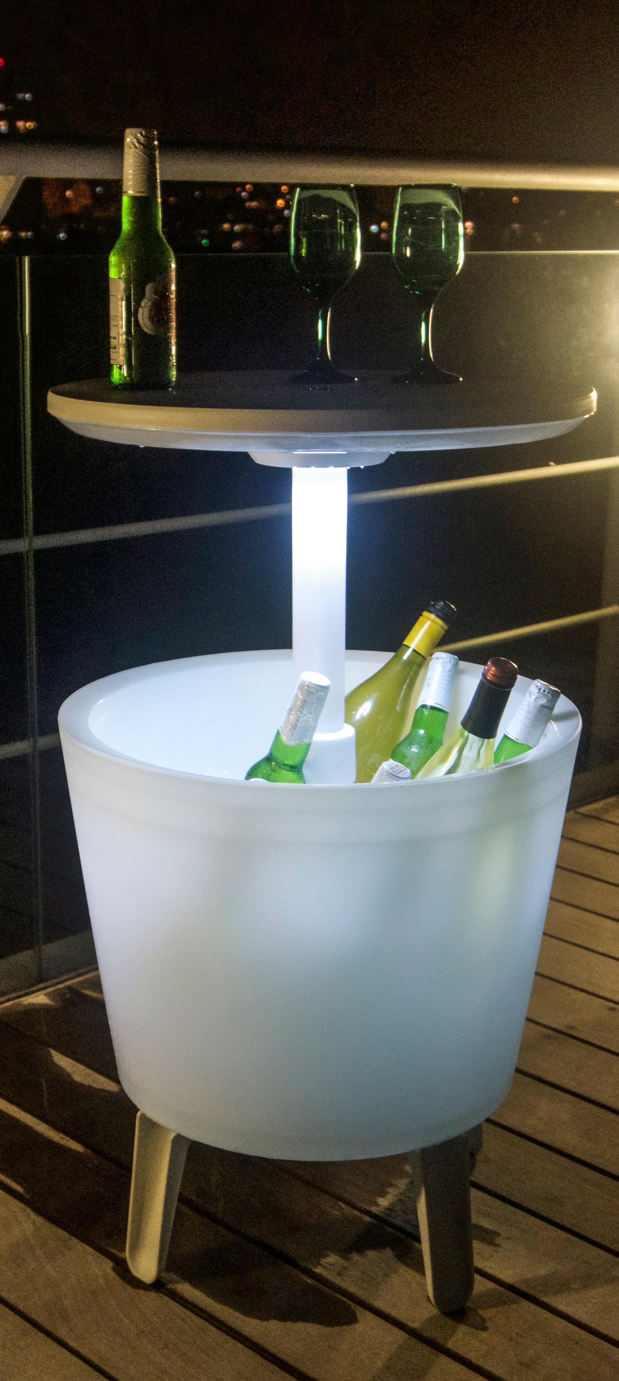 Tepro k hlbox illuminated cool bar beistelltisch for Beistelltisch kunststoff