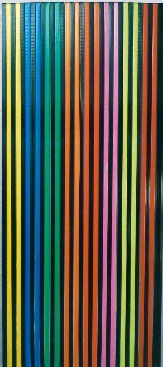 Vorhang / Streifenvorhang Conacord Multicolor Länge 200cm Bild 1