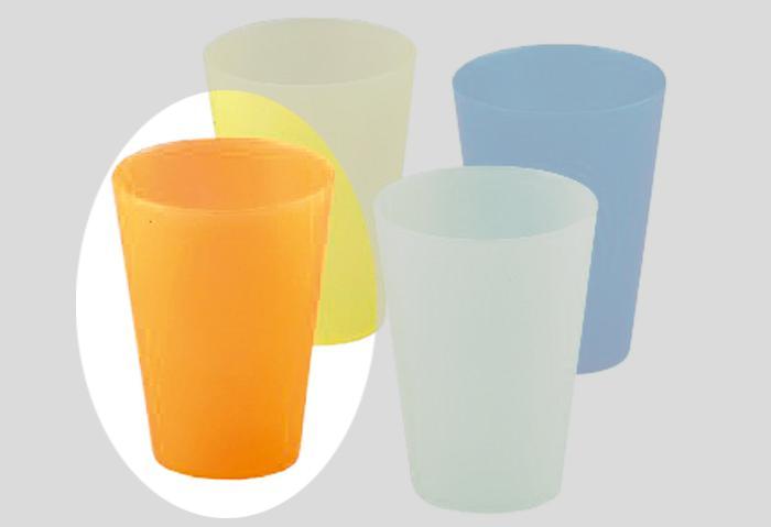 Wüllner & Kaiser Trinkbecher transluzent 0,4l farbig sortiert 1 Stück Bild 2