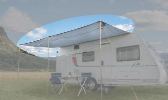 Wohnwagen Sonnendach Columbus 350x240cm Bild 1