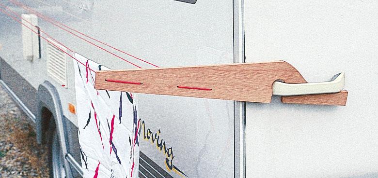 Wohnwagen Wäschetrockner / Wäscheleine Wenko für vertikale Griffe Bild 2