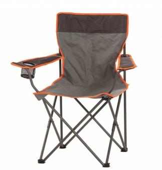 Campingstuhl / Faltstuhl Oscar Portal Outdoor Stahl Textil grau-orange Bild 1