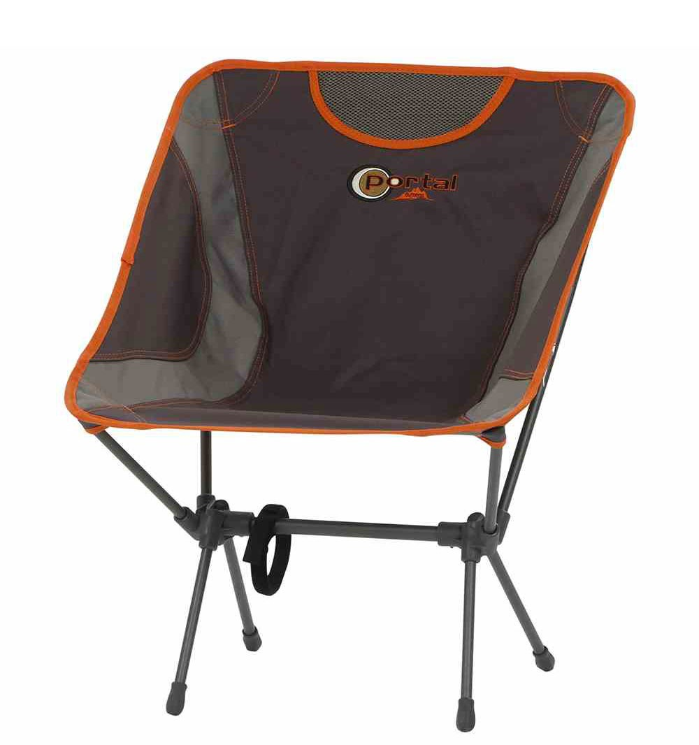 Campingstuhl Klappstuhl Aaron Portal Outdoor Stahl Textil grau-orange Bild 1