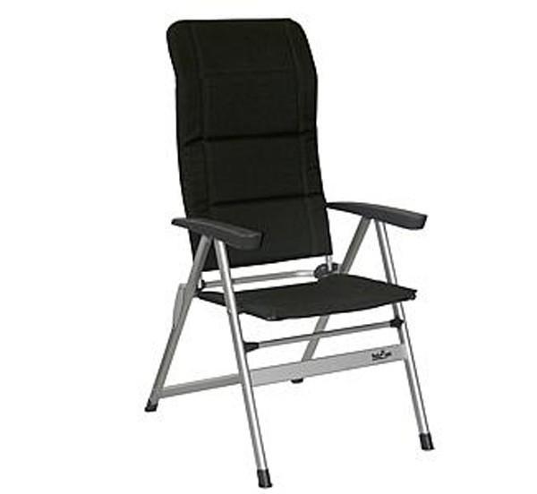 campingstuhl klappstuhl gepolstert anthrazit bei. Black Bedroom Furniture Sets. Home Design Ideas