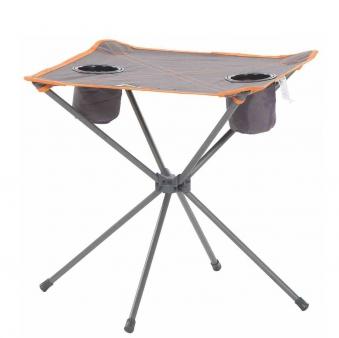 Campingtisch / Faltttisch Zoe Outdoor Stahl grau-orange 48x48cm Bild 1