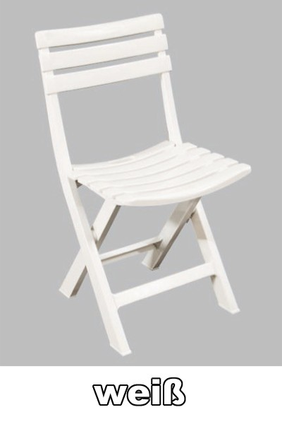 gartenstuhl biergartenstuhl klappbar birki wei kunststoff bei. Black Bedroom Furniture Sets. Home Design Ideas
