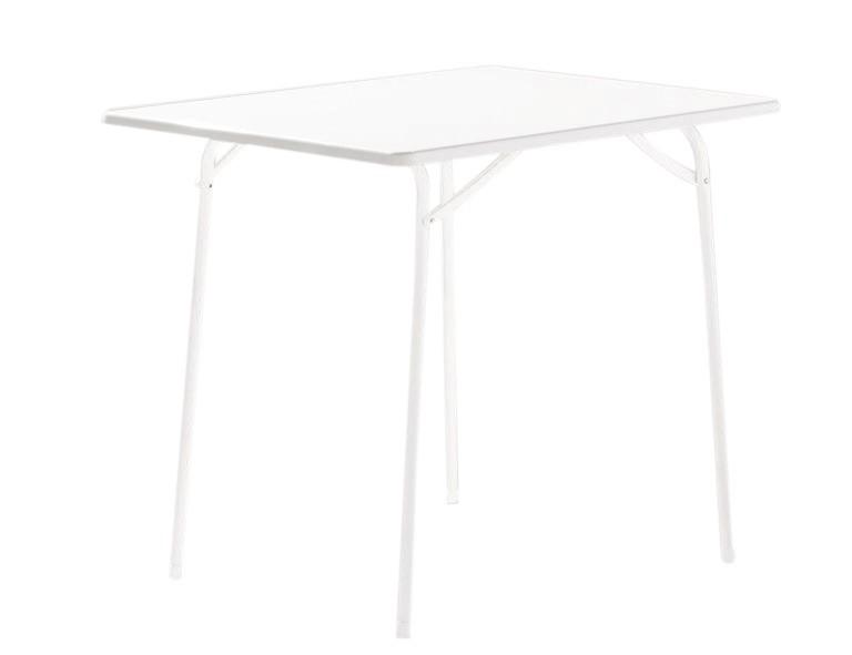sieger gartentisch klapptisch 100 w stahl mecalit 80x60cm wei bei. Black Bedroom Furniture Sets. Home Design Ideas