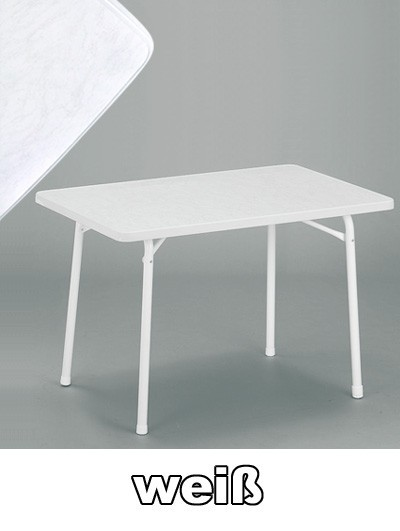 sieger gartentisch klappbar 115 x 70 cm wei stahl bei. Black Bedroom Furniture Sets. Home Design Ideas