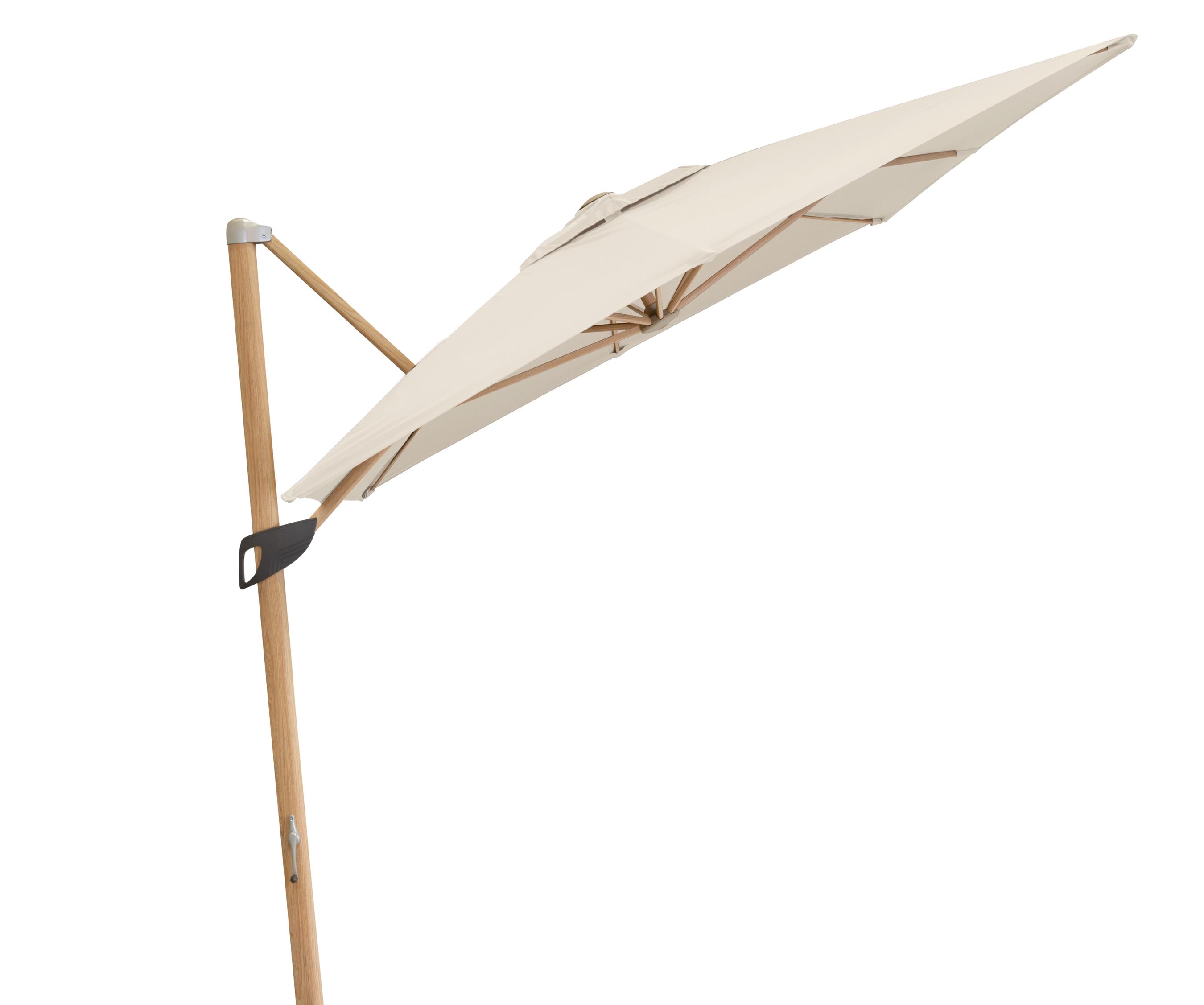 Doppler Pendelschirm Alu Wood 300x220cm Esche-Optik D. 820 natur Bild 5