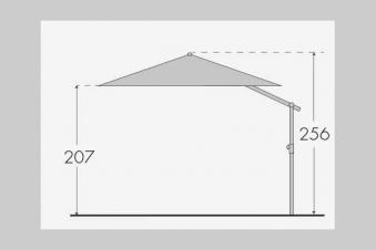 Doppler Pendelschirm Alu Wood 300x220cm Esche-Optik D. 820 natur Bild 2