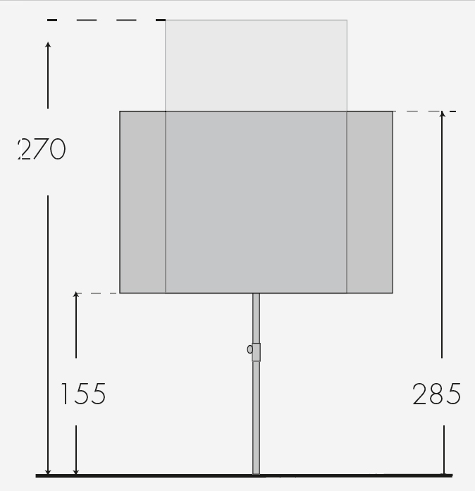 Doppler Sonnenschirm / Active Balkonblende 180x130cm Des. 840 Bild 2
