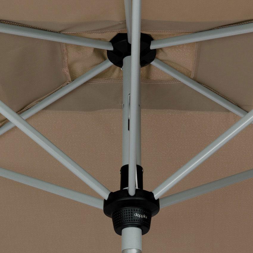 Doppler Sonnenschirm / Kurbelschirm Active auto tilt 210x140cm greige Bild 5