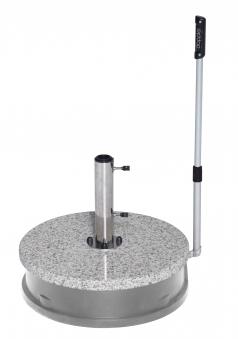Doppler Sonnenschirmständer Granit Rollsockel Easy Move 30kg Ø32-60mm