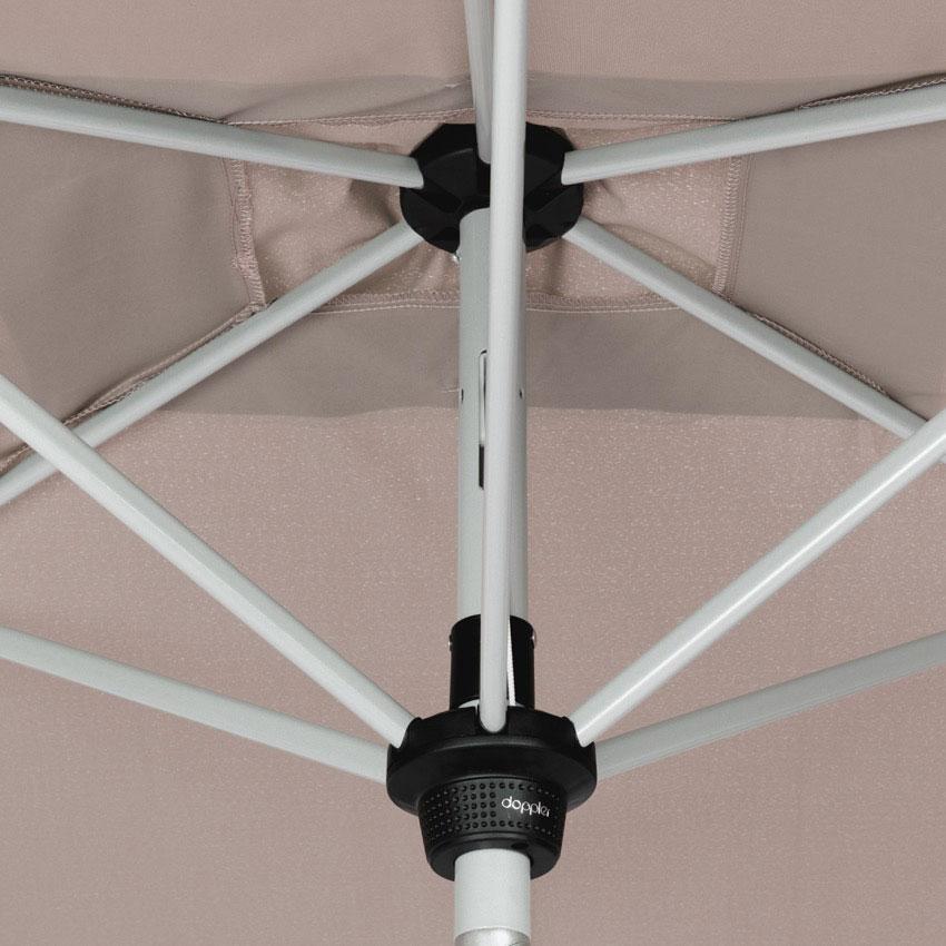 Doppler Sonnenschirm / Kurbelschirm Active auto tilt 210x140cm natur Bild 7