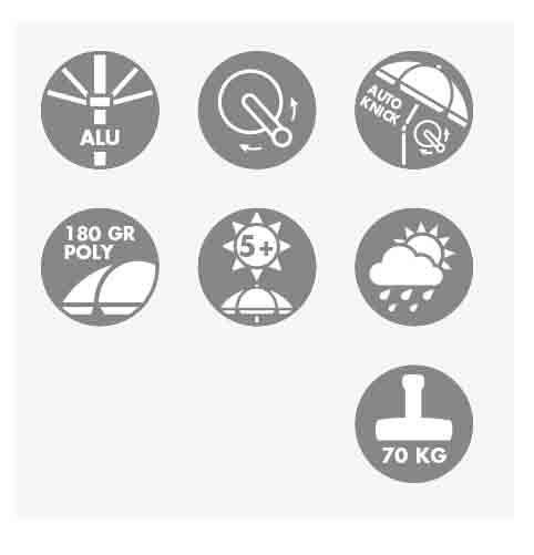 Doppler Sonnenschirm / Kurbelschirm Active auto tilt 300x200cm terra Bild 8