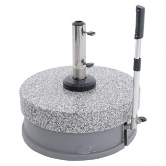 Doppler Sonnenschirmständer Granit Rollsockel EasyMove 70kg Ø32-60mm