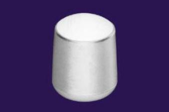 Fußkappe für Gartenmöbel rund Ø 38 mm weiß Bild 1