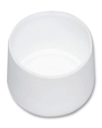 MWH Fußkappe 10101029 rund Ø 28 mm weiß Bild 1