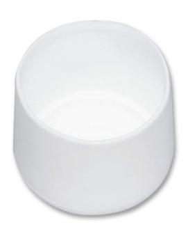 MWH Fußkappe 10101073 rund Ø 25 mm weiß Bild 1