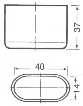 MWH Fußkappe 902-414 oval 40x14mm schwarz Serie Chateau/Savoy/Onero Bild 2