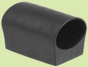 MWH Fußkappe / Bodengleiter Gartentisch rund Ø 28 mm schwarz Bild 1