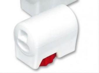 MWH Fußkappe / Bodengleiter Gartentisch rund Ø32mm verstellbar weiß Bild 1