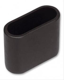 MWH Fußkappe oval 50x20mm schwarz Serie Chalet vorne