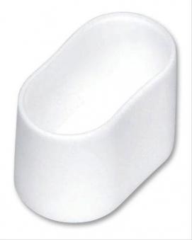 MWH Fußkappe oval 38 x 20 mm weiß Bild 1