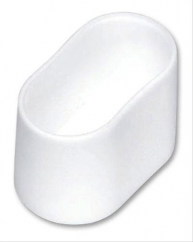MWH Fußkappe oval 40 x 20 mm weiss Bild 1