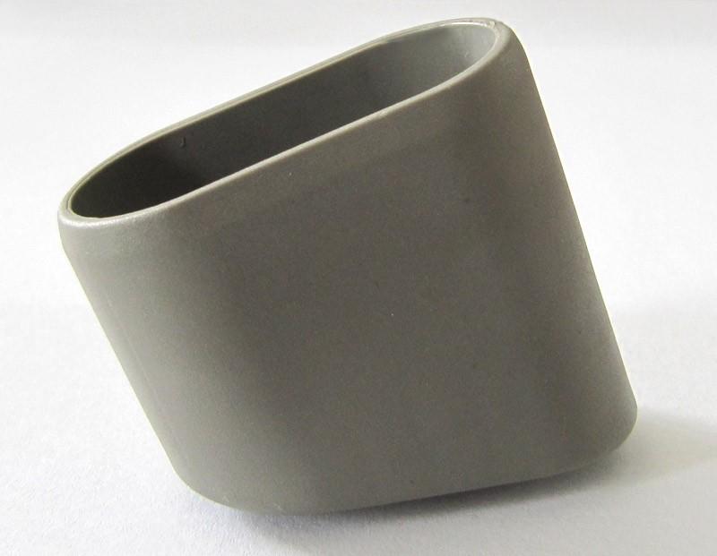 MWH Fußstopfen oval schräg 40x20mm grau Bild 1