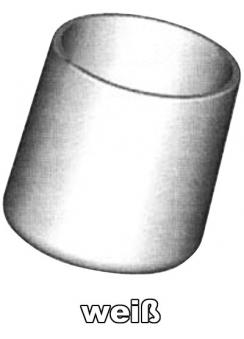 SIEGER Fußkappen Set Gartentisch Ø 25 mm weiß Bild 1