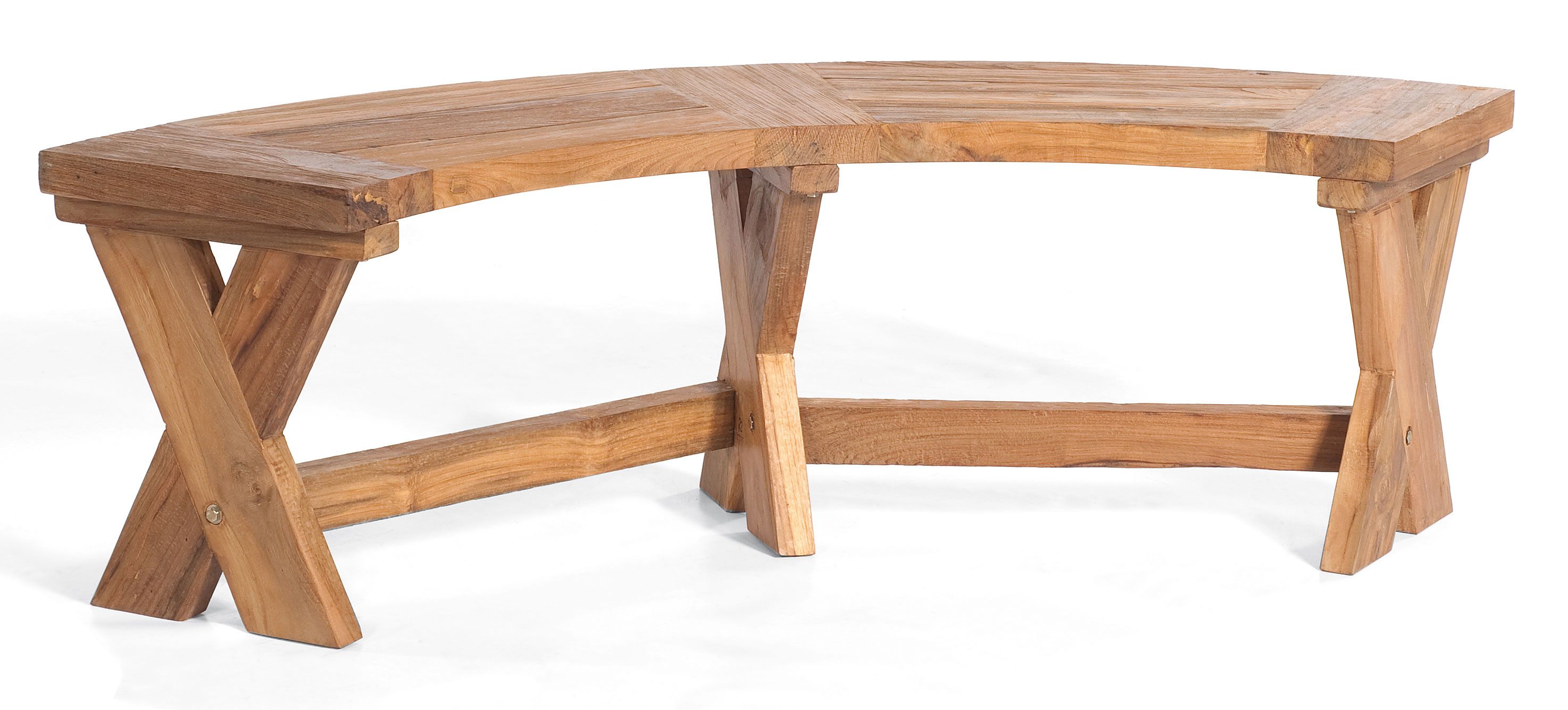 Holz gartenbank rund 034006 eine for Beistelltisch halbrund holz