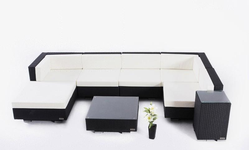 Outflexx Gartenmöbel Polyrattan Lounge Gruppe 8-tlg ...