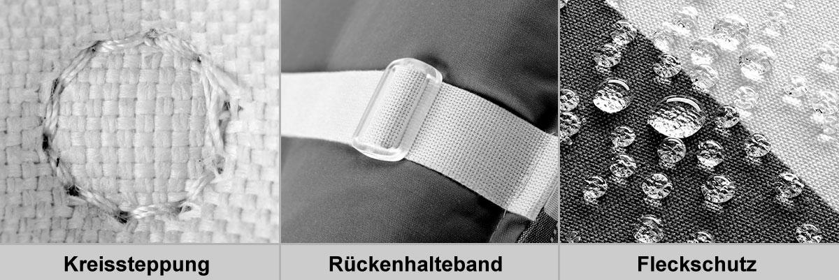 Doppler Polster / Auflage Gartensessel Niederlehner Des. Comfort 5336 Bild 2
